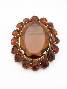 Huge Amber Pendant Brooch  Vintage Root by EratiqueJewels on Etsy, $34.00