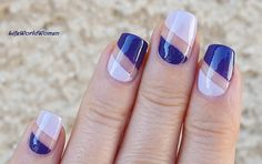 #Purple Negative Space Tape #Nailart / https://www.youtube.com/user/LifeWorldWomen