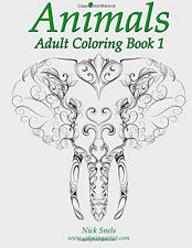 Adult Coloring Book Animals Designs Stress Relief Doodle Creative Design Relax
