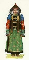 Mongolian traditional costumes - text in English