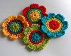 Crochet Flower Motifs    Crochet Garden Series