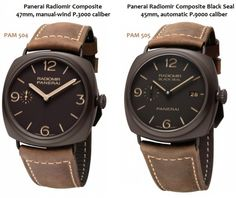 Panerai Radiomir Composite (PAM 504) and Composite Black Seal (PAM 505) | Perpetuelle