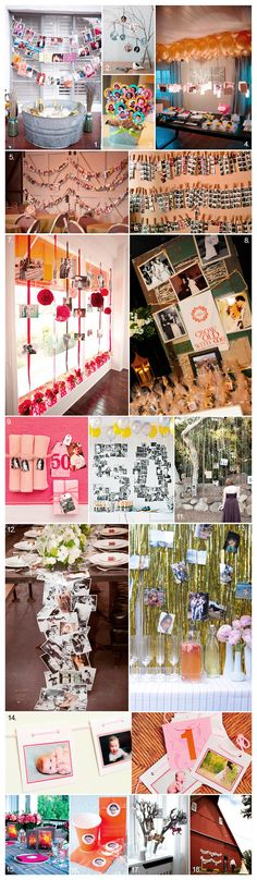 Fabulous Photo Displays at Parties & Events | Akemi Photography    #PhotoDisplays #MemoriesOnDisplay