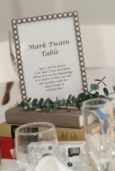 Table numbers with quotes from books