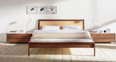 Furniture Stores in Phoenix: Marvelous Furniture Stores In Phoenix With Big Beds Wood Bed Frames Also Modern Bedside Table With Storage Also White Modern Table Lamps On Top Of Engineered Wood Floor As Bedroom Furniture Ideas ~ surrealcoding.com Furniture Inspiration