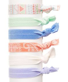 Look what I found on #zulily! Bel Fiore Paisley Hair Tie Set by Bel Fiore #zulilyfinds