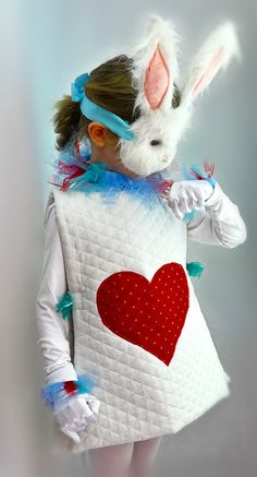 For lily to wear! White Rabbit Halloween Costume  Mask from Alice and by liluxe, $114.99