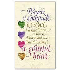 Prayer of Gratitude - Holy Card