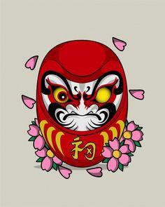 Japan Tattoo Design, Japanese Tattoo Designs, Japanese Tattoo Art, Japanese Sleeve Tattoos, Heath Ledger Joker Wallpaper, Daruma Doll Tattoo, Lucky Cat Tattoo, Hanya Tattoo, Panda Wallpapers