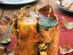 Herbstliches Kerzengesteck http://www.fuersie.de/diy/tischdeko-basteln/artikel/herbstliches-kerzengesteck-selber-machen
