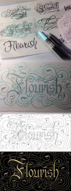 Flourish by Bobby Haiqalsyah, via Behance