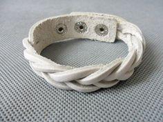 bangleleather bracelet buckle bracelet woven bracelet men bracelet women bracelet girls bracelet made of white leather woven SH-2317