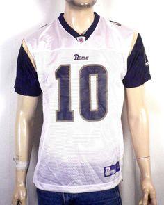 86e264609 NWOT vtg Reebok on Field St Louis LA Rams Marc Bulger Jersey NFL youth XL   Reebok  StLouisRams