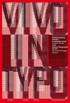 philippe apeloig vivo type poster