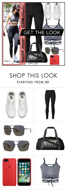 """""""Work It Out: Gym Essentials"""" by goreti ❤ liked on Polyvore featuring Vans, Versace, Kendall + Kylie and NIKE"""