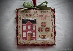 "little house needleworks poinsettia house | Poinsettia House"""