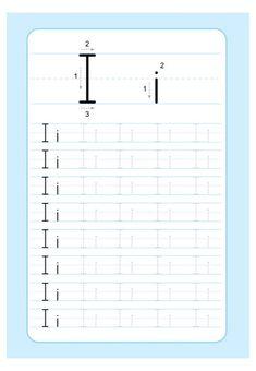 Alphabet Writing Practice, Writing Practice Worksheets, Free Kindergarten Worksheets, Alphabet For Kids, Worksheets For Kids, Alphabet Tracing Worksheets, Alphabet Worksheets, Preschool Writing, Teaching Tools