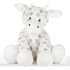 "Little Giraffe's iconic ""Little G"" plush toy has a bigger and cuddlier best friend. #laylagrayce #baby #gift"