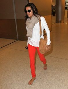 airport chic, fashion, travel chic, cloth, red jeans, travel style, airport style, travel outfits, red pants