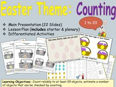 Easter Counting and Estimation, Presentation, Lesson Plan and Worksheet Activities
