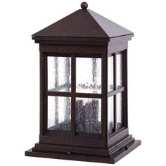 The Great Outdoors GO 8567 4 Light Pier Mount Light from the Berkeley Collection Rust Outdoor Lighting Landscape Lighting Hardscape Lights
