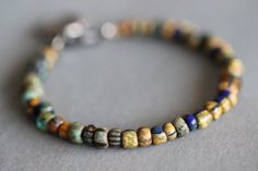 BLACK FRIDAY SALE Aged Picasso Beaded Bracelet by MossyCreekStudio