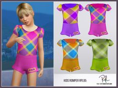 :: 4 swatches Found in TSR Category 'sims 4 Female Child Everyday' Marigold Sims 4, 4 Kids, Children, Rompers For Kids, Kids Pants, Sims Cc, Toddler Dress, Shirts For Girls, Dress Collection