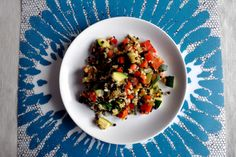 Čočkový salát s bulgurem a zeleninou
