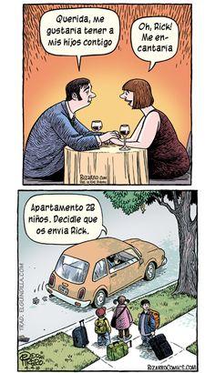 imagen graciosa de me gustaría tener a mis hijos contigo. Más en www.lasfotosmasgraciosas.com