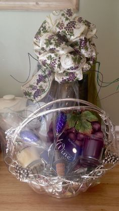Diy baby camping gift basketrents love to camp my finished diy wine gift basket wrapped solutioingenieria Image collections