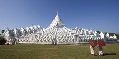 The all white Hsinbyume Temple                at Mingun, near Mandalay. Photo: Bo Bo Zaw