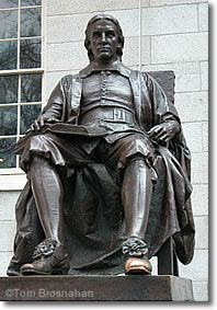 John Harvard, by Daniel Chester French, Harvard Yard, Cambridge MA