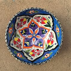 Hand-painted Turkish Ceramic Bowl, Unique gift bowl | Odyssey Imports