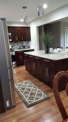 43 small kitchen remodel ideas before starting 37 43 Small . - 43 small kitchen remodel ideas before starting 37 43 Small Kitchen Remodel – - Cherry Wood Cabinets, New Kitchen Cabinets, Old Kitchen, Kitchen Layout, Kitchen Countertops, Kitchen Decor, Kitchen Ideas, Kitchen Wood, Soapstone Kitchen