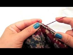 Knitting Fair Isle - Two Yarns in Right Hand - Catching Floats I like to do two-colour knitting holding both yarns in my right hand as this feels more comfor...
