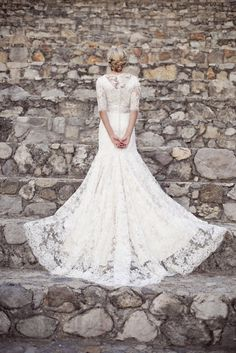 #wedding #dress #sleeves #bridal #gown #modest #lace