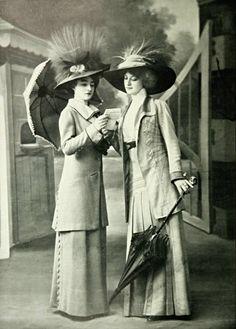 Costumes tailleurs par Paquin, 1909