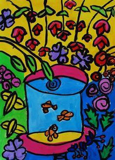 Matisse Fishbowls By 3rd Grade Artsonia Art Museum Artwork Lillian489