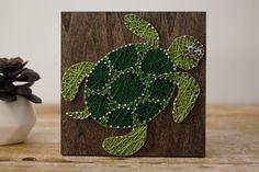 Sea Turtle String Art  Under The Sea String Art  Ocean Life