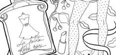 Coloriage : La Petite Robe Noire