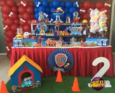Paw patrol Party ideas, balloons Paw patrol, Paw patrol balloons decorations, fiesta patrulla de cachorros @tuttiparty playa del carmen Quintana Roo 9842061367
