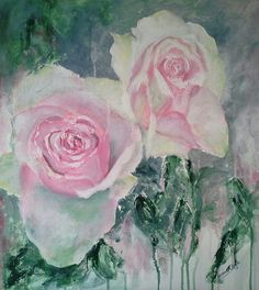 Passion Roses by Josee Clerk at joseescreations Love Art, Art Gallery, My Arts, Sketches, Pastel, Watercolor, Roses, Passion, Paintings