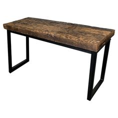 "Featuring a reclaimed railroad wood set atop a black iron frame, this handsome console table pairs handsome craftsmanship with rustic appeal.  Product: Console tableConstruction Material: Reclaimed railroad wood and ironColor: Natural and blackDimensions: 31"" H x 60"" W x 20"" D"