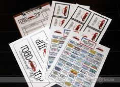 License plate game - mark off the license plates you see! Road game. Free printable.