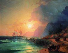 EN LA ISLA DE CRETA. Ivan Aivazovsky (1817-1900).