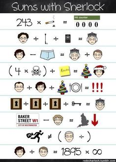 This is great! I particularly like the one with Mrs. Hudson. England would fall! And Lestrade's as well. Not his division!