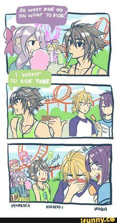 Shinoa, Yuu, and Mika, funny, text