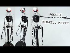 Drawkill FNAF Puppet Posable Figure polymer clay tutorial
