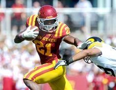 Iowa State running back Shontrelle Johnson. Photo by Ames Tribune.