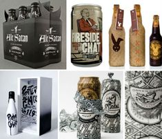 Hand-Crafted Design: 20 Creative Beer Cans & Label Designs via WebUrbanist